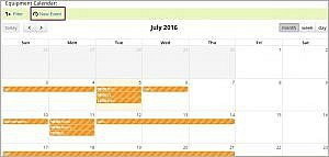 Equipment calendar